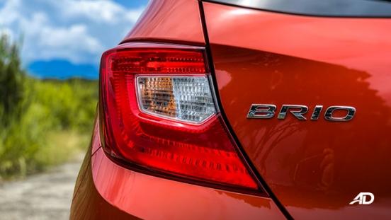 honda brio rs road test exterior badge