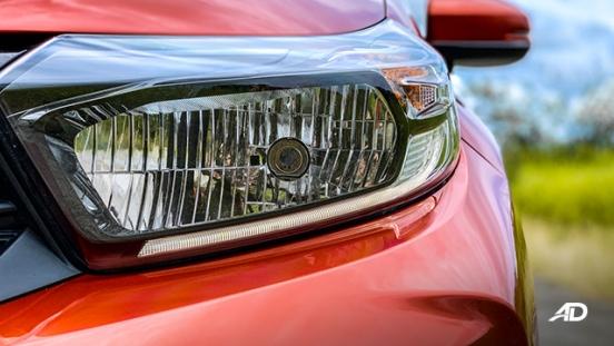 honda brio rs road test exterior headlights