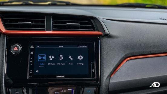 honda brio rs road test interior infotainment philippines