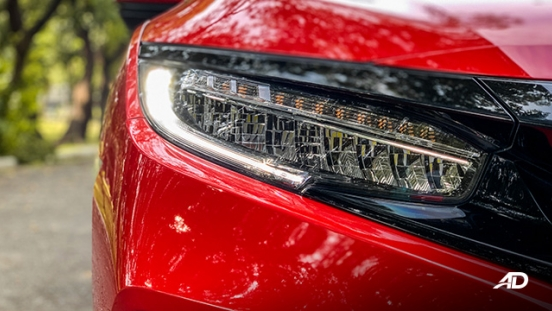 honda civic road test exterior headlights