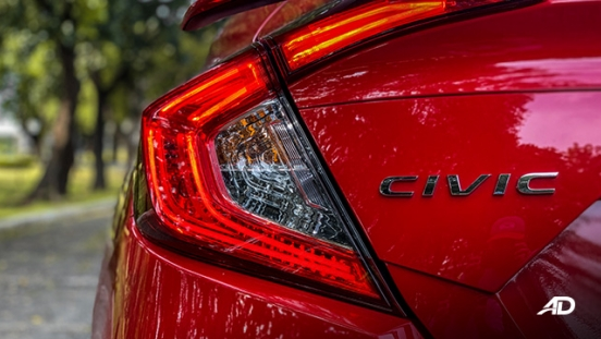 honda civic road test exterior taillights philippines