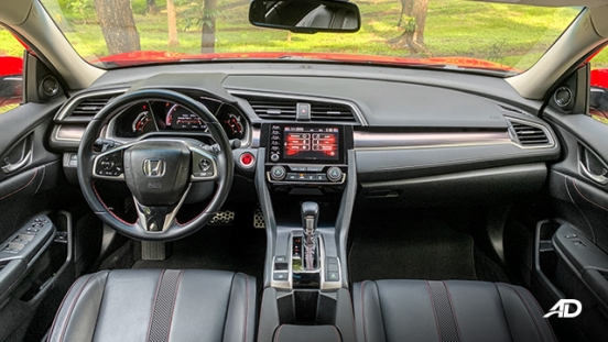 honda civic road test interior dashboard philippines