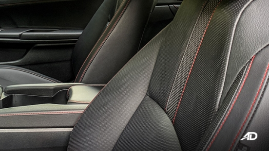 honda civic road test interior seats philippines