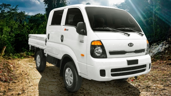 Kia K2500 double cab dropside