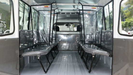 Kia Karga Plus Protect interior rear cabin