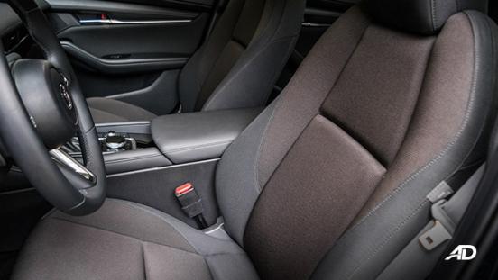 mazda3 elite sedan review road test cloth seats interior philippines