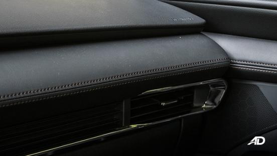 mazda3 elite sedan review road test dashboard material interior