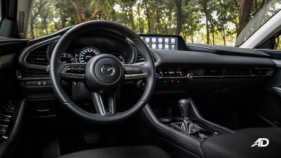 mazda3 elite sedan review road test front cabin interior philippines