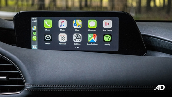 mazda3 elite sedan review road test infotainment apple carplay interior