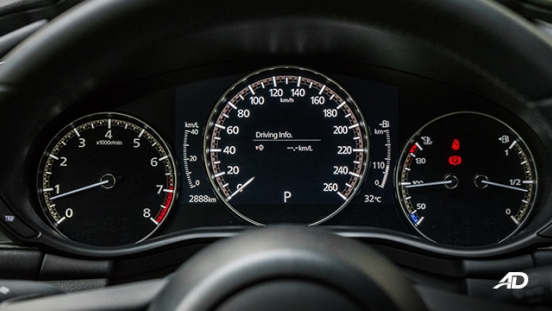 mazda3 elite sedan review road test instrument cluster interior