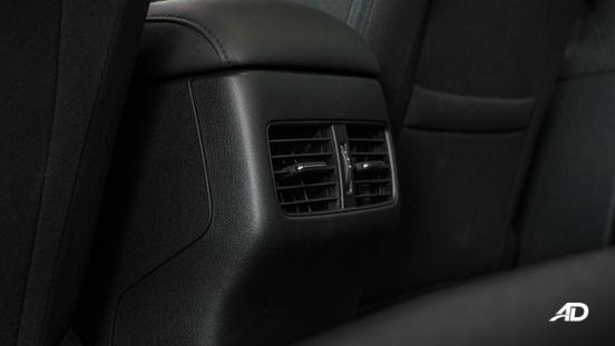 mazda3 elite sedan review road test rear aircon vents interior