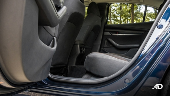 mazda3 elite sedan review road test rear cabin legroom interior philippines