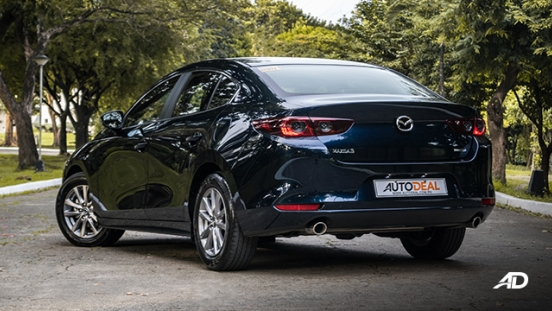 mazda3 elite sedan review road test rear quarter exterior philippines