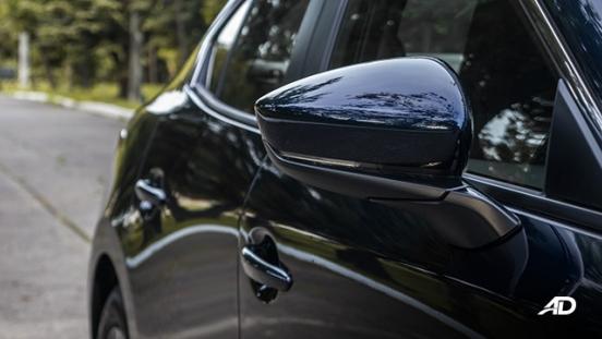 mazda3 elite sedan review road test side mirror exterior philippines