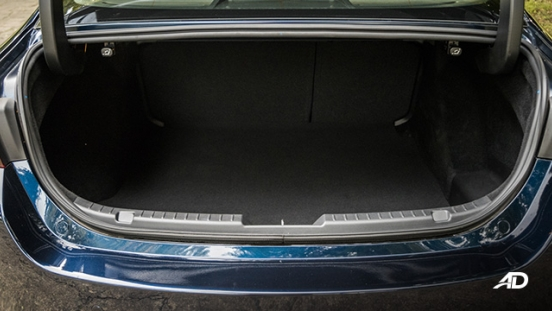 mazda3 elite sedan review road test trunk cargo interior