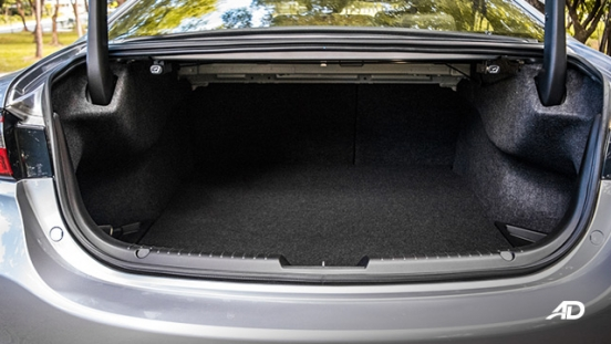 mazda6 sedan road test interior trunk