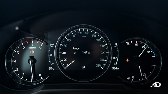 mazda6 sedan turbo road test interior instrument cluster