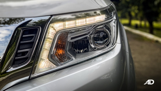Nissan Navara road test exterior headlights
