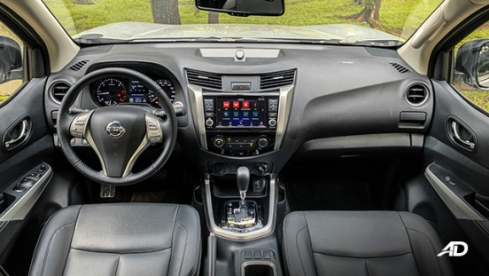 Nissan Navara road test interior dashboard