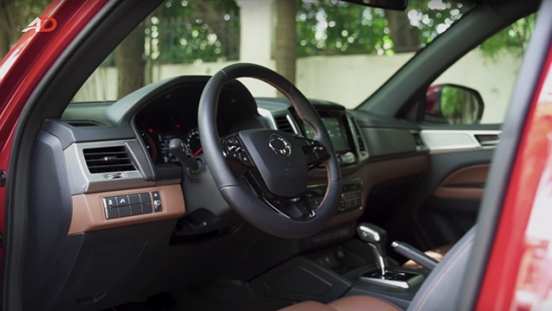Ssangyong musso grand road test dashboard interior philippines
