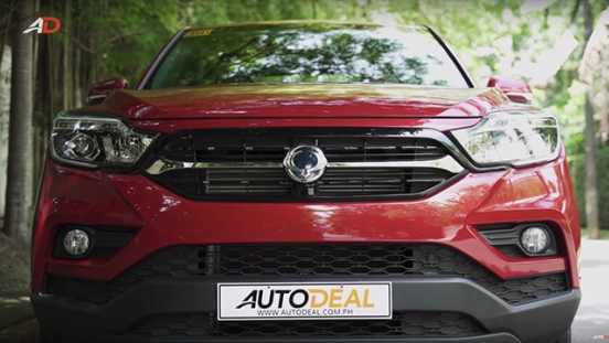 Ssangyong musso grand road test front exterior