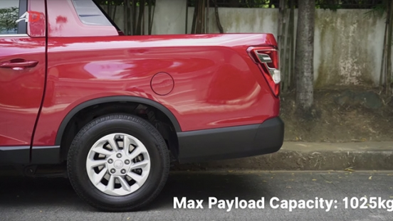 Ssangyong musso grand road test payload exterior
