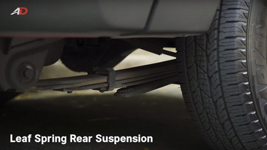 Ssangyong musso grand road test rear suspension exterior