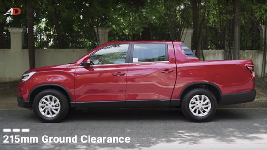 Ssangyong musso grand road test side exterior philippines