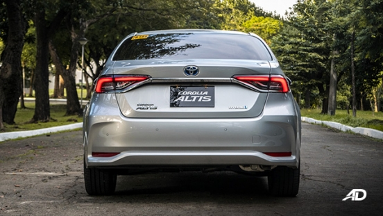 Toyota corolla altis hybrid review road test rear exterior