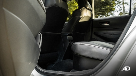 Toyota corolla altis hybrid review road test rear legroom interior