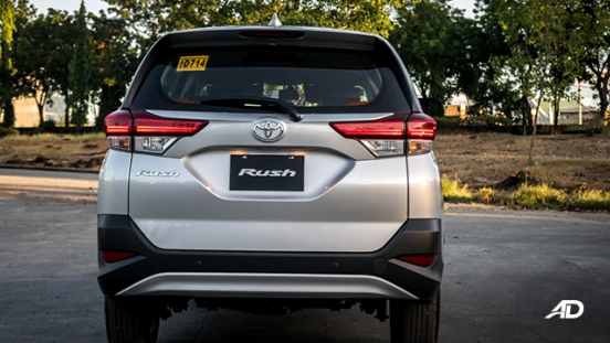 toyota rush road test exterior rear