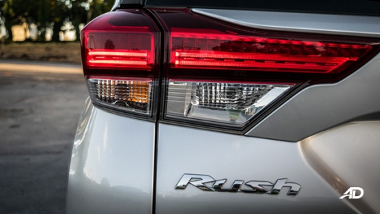 toyota rush road test exterior taillights