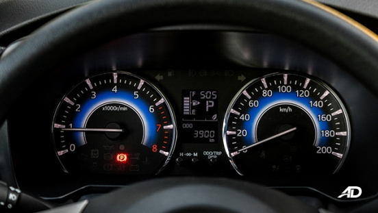 toyota rush road test interior instrument panel