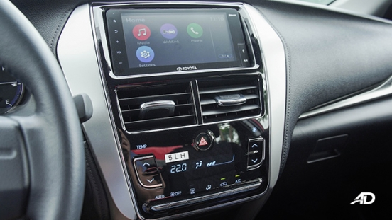 Toyota Vios G CVT road test infotainment system