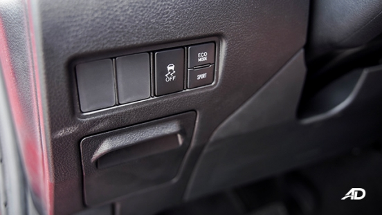 Toyota Vios G CVT road test traction control switches