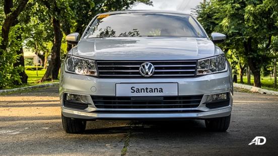 volkswagen santana road test exterior front