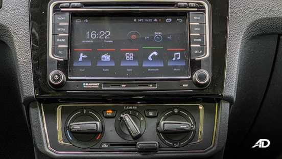 volkswagen santana road test interior infotainment