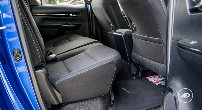 2018 Toyota Hilux Conquest rear legroom