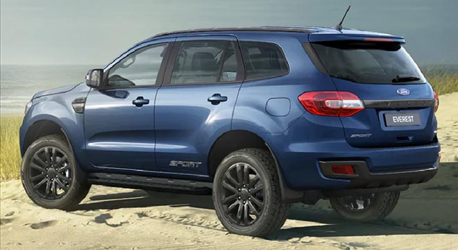 2020 Ford Everest sport deep crystal blue 4x2 AT rear