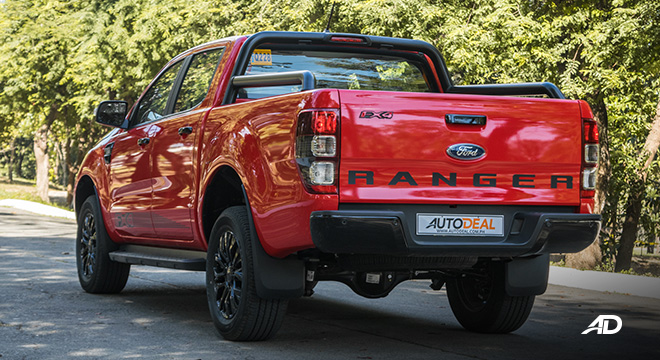 2021 Ford Ranger FX4 exterior quarter rear Philippines