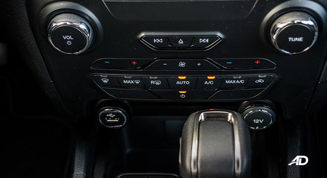 2021 Ford Ranger Wildtrak interior climate control Philippines