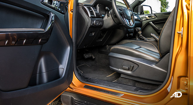 2021 Ford Ranger Wildtrak interior driver's seat Philippines