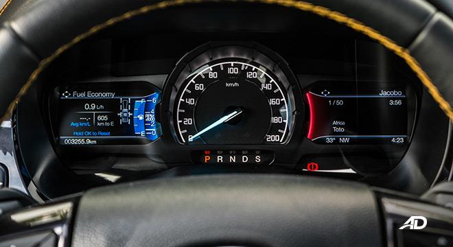2021 Ford Ranger Wildtrak interior gauge cluster Philippines