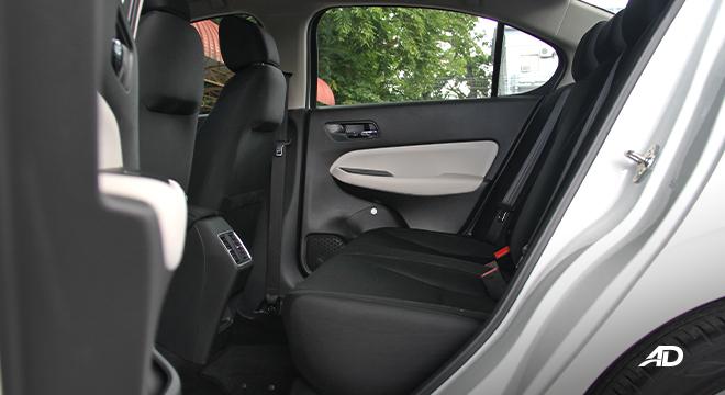 2021 Honda City V interior rear seats Philippines