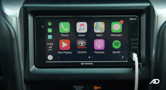 2021 Toyota Fortuner G DSL Philippines interior 6.75-inch touchscreen infotainment system