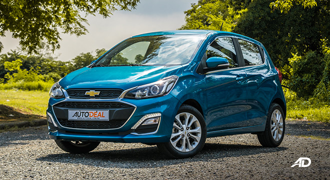 chevrolet spark road test exterior front