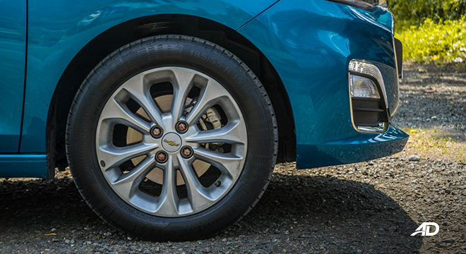 chevrolet spark road test exterior wheels