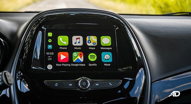 chevrolet spark road test interior infotainment apple carplay