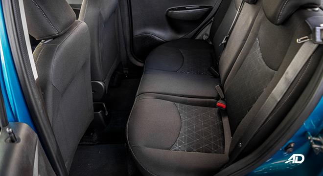 chevrolet spark road test interior rear cabin