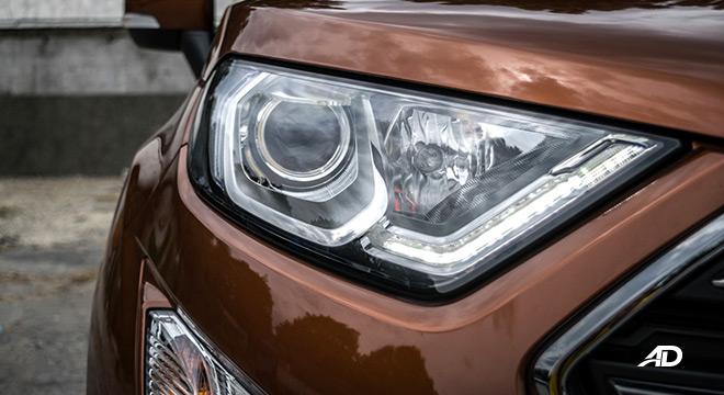 ford ecosport titanium road test exterior headlights